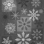 Holiday Magic 9803-99 Grey Large Snowflakes by Henry Glass