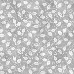 Holiday Magic 9804-90 Light Grey Holly Leaves by Henry Glass