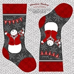 Holiday Magic 9805P-90 Stockings Panel by Henry Glass