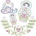 Dutch Russian Embroidery Pattern by Sublime Stitching