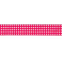 Hot Pink Gingham 5/8 Grosgrain Ribbon by Riley Blake