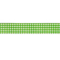 Lime Gingham 5/8 Grosgrain Ribbon by Riley Blake