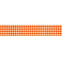 Orange Gingham 5/8 Grosgrain Ribbon by Riley Blake