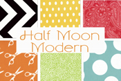 Half Moon Modern 50% off yardage