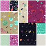 Mochi 10 Fat Quarter Set by Rashida Coleman-Hale for Cotton + Steel