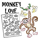 Monkey Love Embroidery Pattern by Sublime Stitching