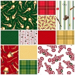 A Christmas Story 12 Fat Quarter Set by Quilting Treasures