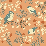 Acorn Trail Organic TW-12 Coral Birds & Branches by Birch