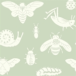 Acorn Trail Organic Mint Tonal Bugs by Teagan White for Birch
