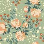 Acorn Trail Organic TW-18 Mint Peonies by Teagan White for Birch