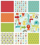 Alphabet Soup 9 Fat Quarter Set by Riley Blake