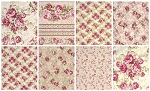 Antique Roses 8 Fat Quarter Set by Kilala