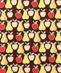 Apples and Pears 6658-A Brown by Alexander Henry