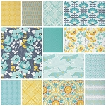 Atrium 13 Fat Quarter Set in Mint by Joel Dewberry for Free Spirit
