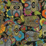 Owl's Nest 14160-195 Bright by Valentina Ramos for Robert Kaufman