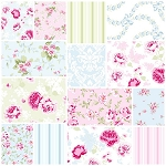 Ballet Rose 11 Fat Quarter Set by Rachel Ashwell