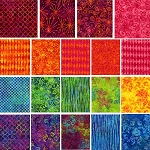 Batiks 19 Fat Quarter Set by Michael Miller