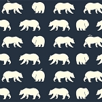 Bear Camp Organic BC-01 Dusk Bear Hike by Birch Fabrics