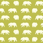 Bear Camp Organic Grass Bear Hike by Birch Fabrics