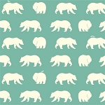 Bear Camp Organic Pool Bear Hike by Birch Fabrics