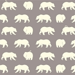 Bear Camp Organic Shroom Bear Hike by Birch Fabrics