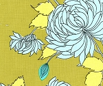 Belle AB10 Okra Chrysanthemum by Amy Butler EOB