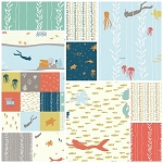 Beyond the Sea Organic 11 Fat Quarter Set by Birch
