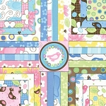 Birdie 22 Fat Quarter Set by Me & My Sister for Moda
