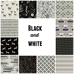 Black & White 12 Fat Quarter Set by Cotton + Steel