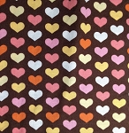 Bon Voyage C4869 Hearts on Brown by Timeless Treasures EOB