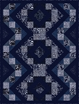 Indigo Blues Braid Quilt Kit by Henry Glass