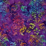 Batiks BT6072 Amethyst Dandy Damask by Michael Miller