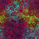 Batiks BT6081 Rainbow Floral Fling by Michael Miller