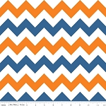 Chevron Medium C320-05 Orange/Blue by Riley Blake