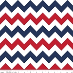 Chevron Medium C320-06 Patriotic by Riley Blake