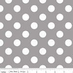 Dots Medium C360-40 Gray by Riley Blake