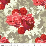 Vintage Verona C3601 Coral Floral by Emily Taylor for Riley Blake