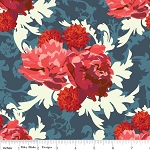 Vintage Verona C3601 Navy Floral by Emily Taylor for Riley Blake