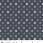 Vintage Verona C3605 Navy Dots by Emily Taylor for Riley Blake