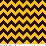 Chevron Medium C380-01 Black/Gold by Riley Blake