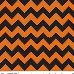 Chevron Medium C380-02 Black/Orange by Riley Blake