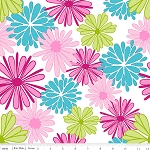 Floriography C3940 Pink Main by Pink Fig for Riley Blake