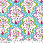 Floriography C3941 Blue Damask by Pink Fig for Riley Blake