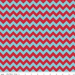 Chevron Small C400-07 Aqua Red by Riley Blake