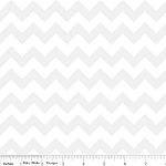 Chevron Small C400-130 White Tonal by Riley Blake