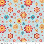 Just Dreamy 2 C4131 Blue Floral by My Mind's Eye for Riley Blake