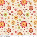 Just Dreamy 2 C4131 Cream Floral by My Mind's Eye for Riley Blake