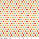 Just Dreamy 2 C4134 Cream Dots by My Mind's Eye for Riley Blake EOB