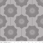 The Cottage Garden C4222 Gray Wallpaper by Riley Blake
