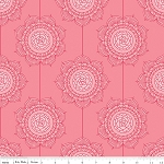 The Cottage Garden C4222 Pink Wallpaper by Riley Blake